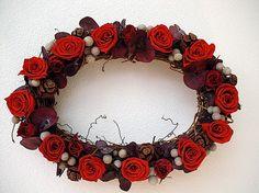 プリザーブドフラワーの赤いローズ きれいです size 30x20cm|ハンドメイド、手作り、手仕事品の通販・販売・購入ならCreema。