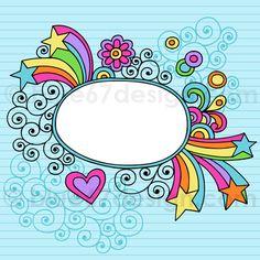 Hand-Drawn Notebook Doodle Frame- Vector Illustration by blue67design by blue67design, via Flickr