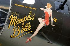 WWII Bomber Nose Art - Memphis Belle