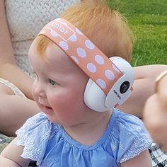 Peach Dots Hearing Protection Baby Earmuffs. www.newjunior.com.au Hearing Protection, Earmuffs, Dots, Peach, Peaches, Ear Warmers, Stitches, Polka Dots
