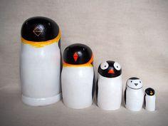 ペンギンマトリョーシカ (16㎝) 5個組