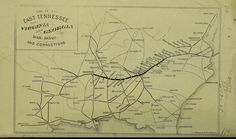 So Many Ancestors!: Mappy Monday: Map of the East Tennessee, Virginia and Georgia Railroad and Connections #genealogy