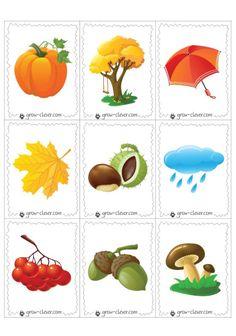 "Карточки ""Признаки осени"", игры мемори, лото и осенняя сказка Season Calendar, Learn Dutch, Autumn Activities For Kids, Welcome Fall, Autumn Nature, Matching Cards, Montessori Materials, Nature Crafts, Adult Coloring Pages"