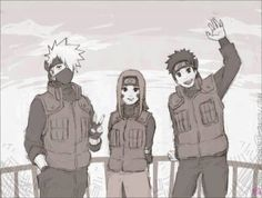 Kakashi, Rin, and Obito..... If they ever actually lived to grow up