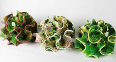 A 'color-floral-single-surface-set' - Sugar lab's 3D printed edible confections.