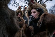 In a corner of Romania, the year-end holiday season is ushered in by troupes of bearskin-clad revelers dancing, singing and drinking. Fear Game, Bear Mask, Winter Festival, Historical Artifacts, Pow Wow, Green Man, Dark Night, Brown Bear, Ny Times