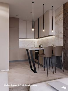 Fantastic modern kitchen room are offered on our website. look at this and you wont be sorry you did. Small Modern Kitchens, Modern Kitchen Design, Interior Design Kitchen, Cool Kitchens, Kitchen Designs, Design Bathroom, Bath Design, Beautiful Kitchens, Living Room Grey