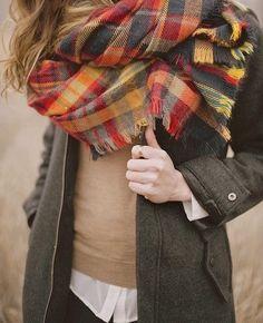 Tartan plaid scarf fashion girl autumn sweater scarf plaid coat