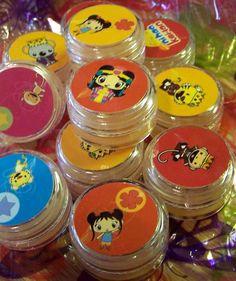KAI LAN Birthday Lip Gloss Pots Party Favors by sassygraceboutique, $24.00