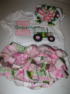 John Deere cute! That's a cute name too!  If were going to have another granddaughter I would have to make this!