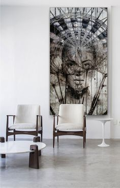 Modern art knows no bounds. This is clearly reflected in this Metro graphic design. With these wall art you can make your home unique and unique. Double Exposure Photography, Photo Printer, Canvas Prints, Art Prints, Rustic Feel, Canvas Pictures, Tree Wall, Wall Wallpaper, Colorful Pictures