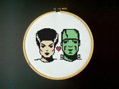 Frankenstein and Bride - Cross Stitch Pattern