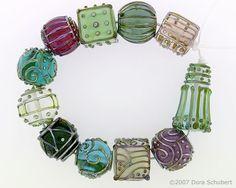 Lampwork Glass Beads by Dora Schubert: