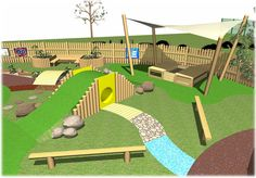 Natural Outdoor Play Space by Daniel Mattock, via Behance