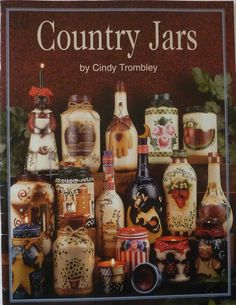 Country Jars by Cindy Trombley - Tole Painting Book for Beginners - Easy Patterns