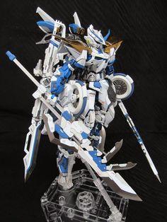 "Custom Build: MG Gundam Astray Blue Frame version ""Richigobankai"" Gundam Toys, Gundam Art, Gundam Astray, Gundam Wallpapers, Gundam Mobile Suit, Gundam Custom Build, Gundam Wing, Gunpla Custom, Mecha Anime"