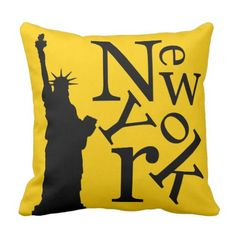 New York Metropolis Liberty Black Typography pillow.  Learn even more by checking out the image link