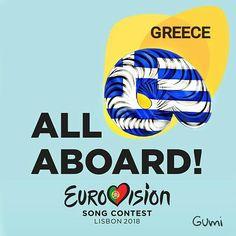 Eurovision 2018 Lisbon All Aboard Greece Eurovision Songs, Lisbon, Greece, Greece Country