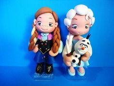 topo de bolo biscuit Anna e Elsa Frozen