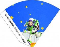 kit festa toy story cone para guloseimas -em pdf, é só editar o nome de seu filho e está pronto para imprimir. - veja o kit festa toy story grátis completo em http://fazendo-festa.net/kit-festa-infantil-gratuitos/kit-festa-toy-story/
