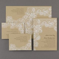 Antique Lace Sep 'n Send Wedding Invitation Set 40% OFF  |  http://mediaplus.carlsoncraft.com/Wedding/Wedding-Invitations/3159-VZ30705-Antique-Lace--Sep-n-Send.pro
