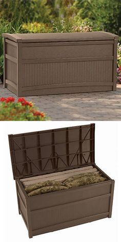 Other Patio And Garden Furniture 10035: Storage Deck Box Outdoor Container  Bin Chest Patio Suncast