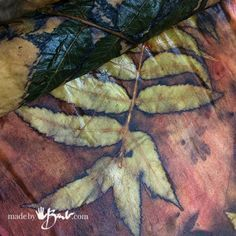 Eco Printing - Nature's Miracle - Made By Barb - a simple introduction to the magic of printing with botanical plants