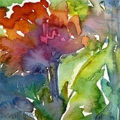 Peony in June by Diana Fegredo Watercolor