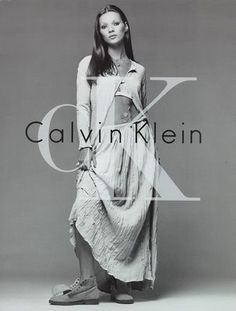 46cffc58f Calvin Klein was a fashion go-to. His color palette was neutrals like grey