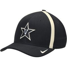 hot sale online a9b7f 9d9e9 Men s Nike Black Gold Vanderbilt Commodores Sideline Aero Swoosh Flex Hat