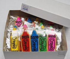 A box of crayons is always a good idea. Crayons, Boxes, Packaging, Good Things, Creative, Design, Crates, Box, Wrapping