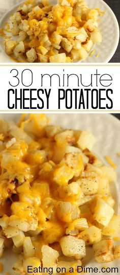 You have to try this Easy Cheesy Potatoes Recipe - it is the perfect side dish or any dinner. The kids just love it!