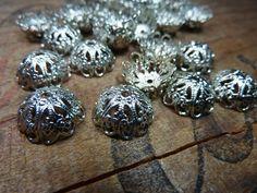 Vintage Silver Bead Cap