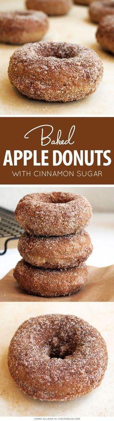 Baked Apple Donut Recipe | TheCakeBlog.com #DesertsFoodRecipes