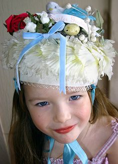 My Daughter wearing her Vintage Easter bonnet......... | Flickr - Photo Sharing!