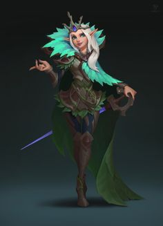 by Wu Shenyou Fantasy Character Design, Character Creation, Character Design Inspiration, Game Character, Character Concept, Concept Art, Elf Characters, Fantasy Characters, Casual Art