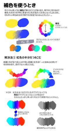 """さくはるさんのツイート: """"リクエストいただいてた色の話です!!! 長くなったけど結局は「『輝度を透明度に変換』はいいぞ」ということなので実は読まなくてもいい… """" Drawing Tips, Drawing Reference, Ps Tutorials, Coloring Tips, Coloring Tutorial, Digital Painting Tutorials, Colour Pallete, Color Box, Texture Painting"""