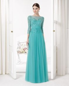 Shop affordable Sequined Bateau Neck Illusion Sleeve Tulle Prom Dress at June Bridals! Over 8000 Chic wedding, bridesmaid, prom dresses & more are on hot sale. Grad Dresses Long, Prom Girl Dresses, Junior Prom Dresses, Designer Prom Dresses, Tulle Prom Dress, Modest Dresses, Bridesmaid Dress, Party Dresses, Lace Dress
