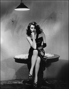 Ava Gardner in The Killers, 1946... If she's poison, make mine a double