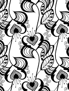(^_^) free download-pretty coloring pages for valentines