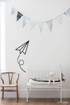 Lastenhuoneen uusi ilme washiteipillä Kids Room, Nursery, Interior, Home Decor, Room Kids, Decoration Home, Room Decor, Childs Bedroom, Babies Rooms