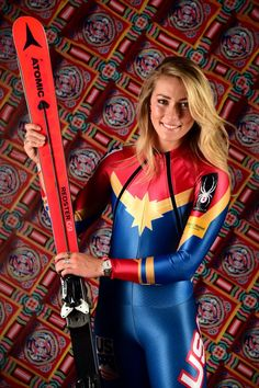 Mikaela Shiffrin Photos - Alpine skier Mikaela Shiffrin poses for a portrait during the Team USA PyeongChang 2018 Winter Olympics portraits on April 2017 in West Hollywood, California. Ski Girl, Sport Girl, Mikaela Shiffrin, Ski Fashion, Sporty Fashion, Fashion Women, Winter Fashion, Bobsleigh, Pyeongchang 2018 Winter Olympics