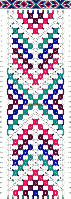 Normal Friendship Bracelet Pattern #13254 - BraceletBook.com