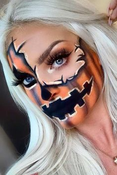 23 Half Face Halloween Makeup Ideas | StayGlam