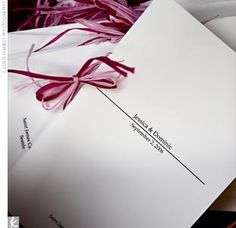 Real Weddings - Jessica & Dominic: A Pink Wedding in Seattle, WA - The Program