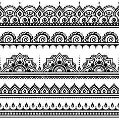 40075234-Mehndi-Indian-Henna-tattoo-seamless-pattern-design-elements-Stock-Vector.jpg 1,300×1,300 pixels