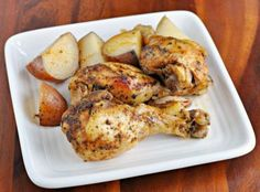 Slow Cooker Recipe | Herbed Chicken Legs and Potatoes