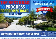 """OPEN HOUSE TODAY 10AM-2PM! Have a great Memorial Day weekend! """"Freedom"""" quote by John F. Kennedy"""