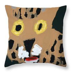 Patrick Francis Designer Throw Pillow featuring the painting Jaguar 2014 by Patrick Francis Pillow Sale, Designer Throw Pillows, The Incredibles, Artist, Artwork, Painting, Work Of Art, Auguste Rodin Artwork