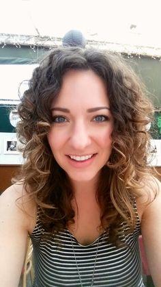 New, shorter hair cut  #natural #thick #curlyhair #waves #layers #greyeyes